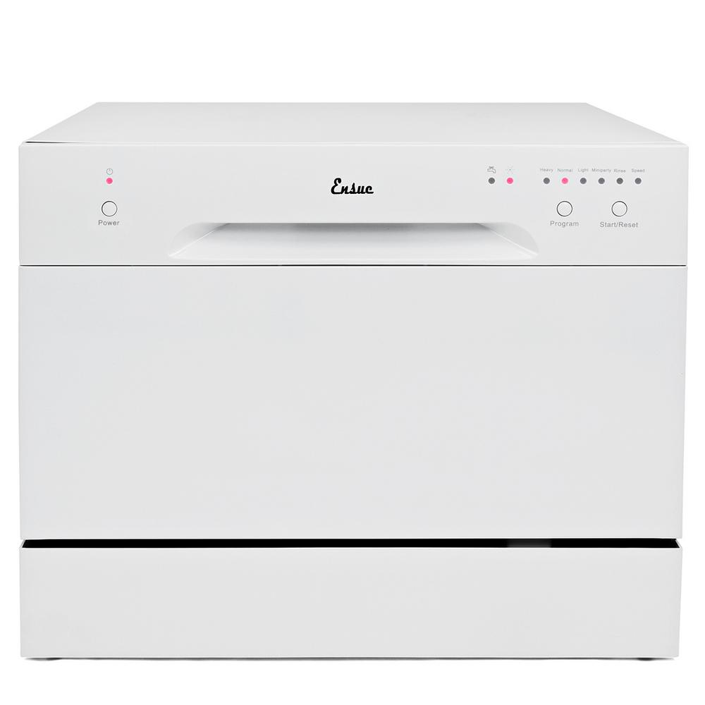 Ensue Portable Dishwasher in White with 6 Place Setting Capacity