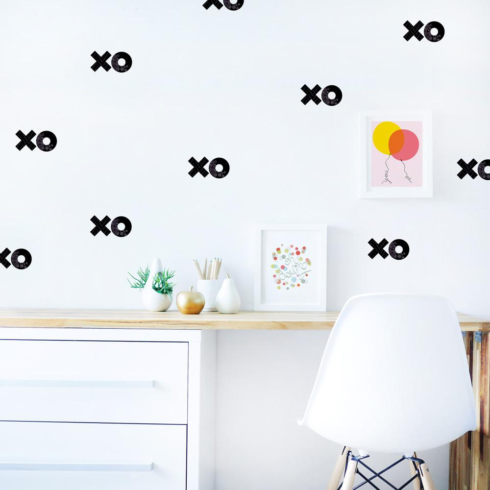 XOXO Black Fabric Wall DecalWDXO1 The Home Depot