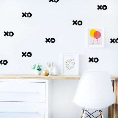 XOXO Black Fabric Wall Decal