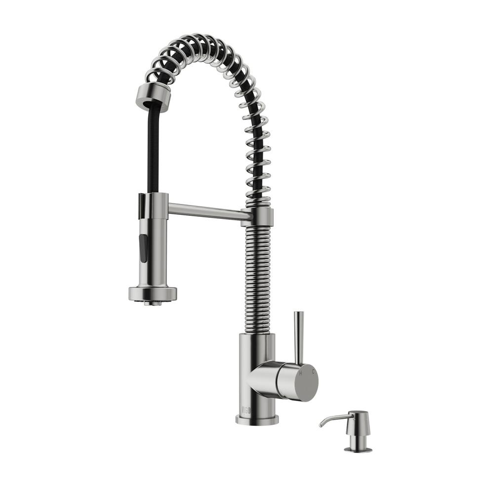 home depot kitchen sink faucet vigo single handle pull out sprayer kitchen faucet with 23983