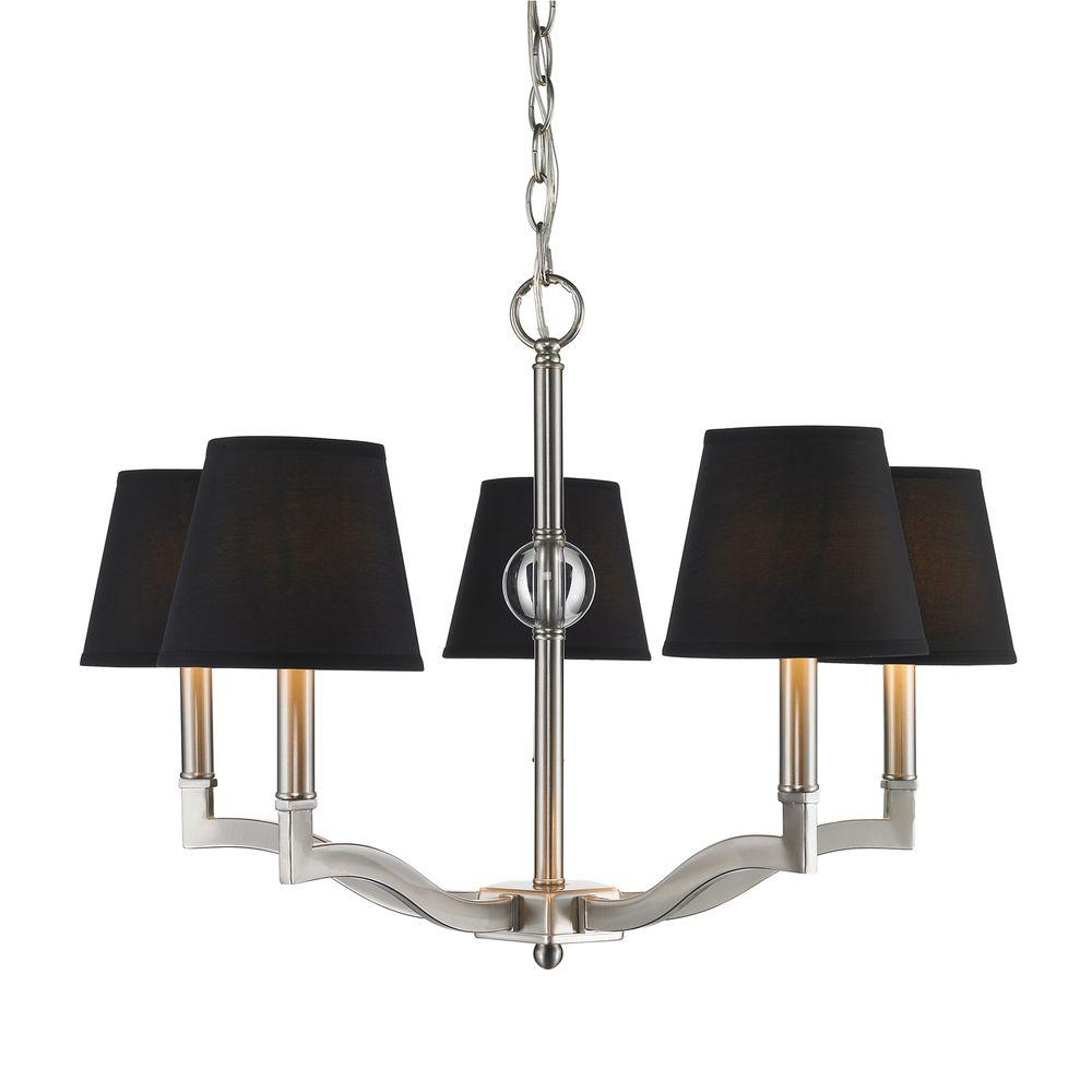 Kiley Collection 5-Light Pewter Chandelier