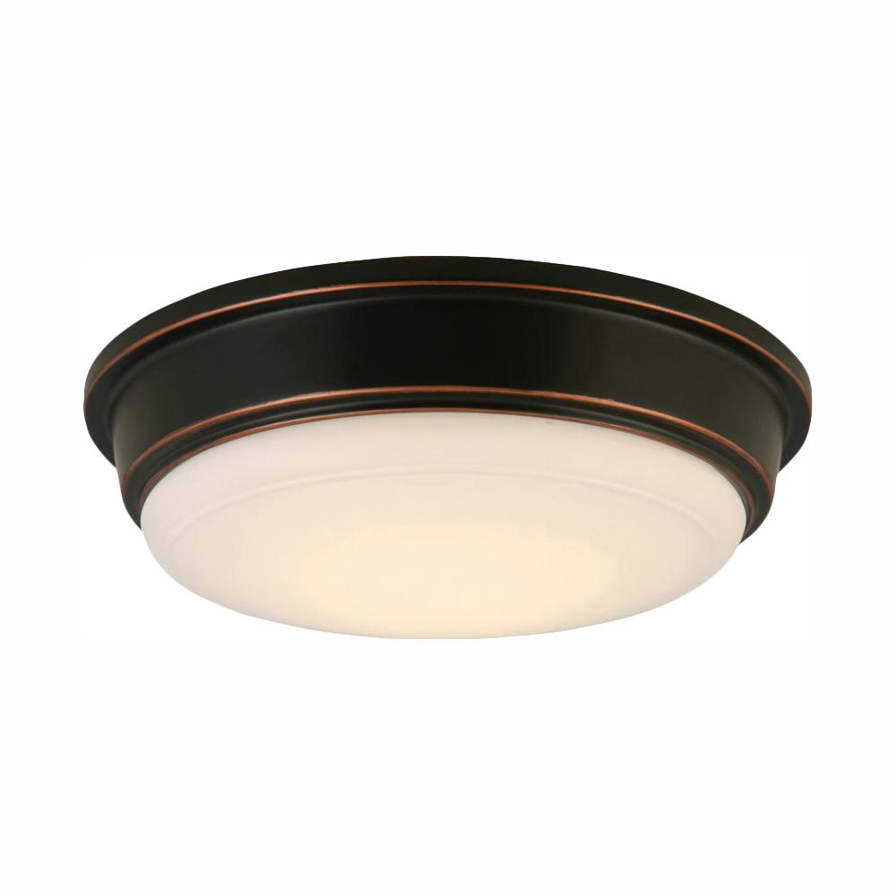 hampton bay Oil Rubbed Bronze Integrated LED Outdoor Flush Mount