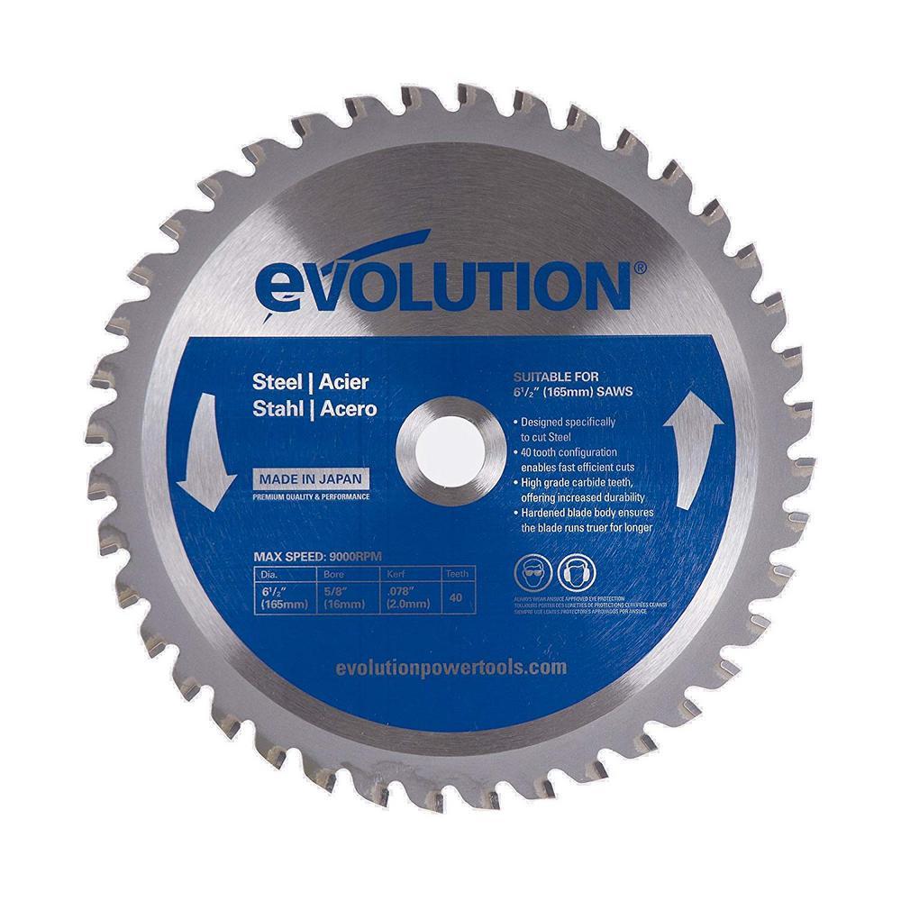 6-1/2 in. 40-Teeth Mild Steel Cutting Saw Blade