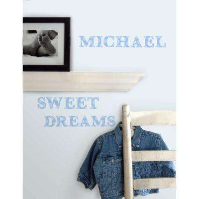 5 in. x 11.5 in. Express Yourself Blue Peel and Stick Wall Decal