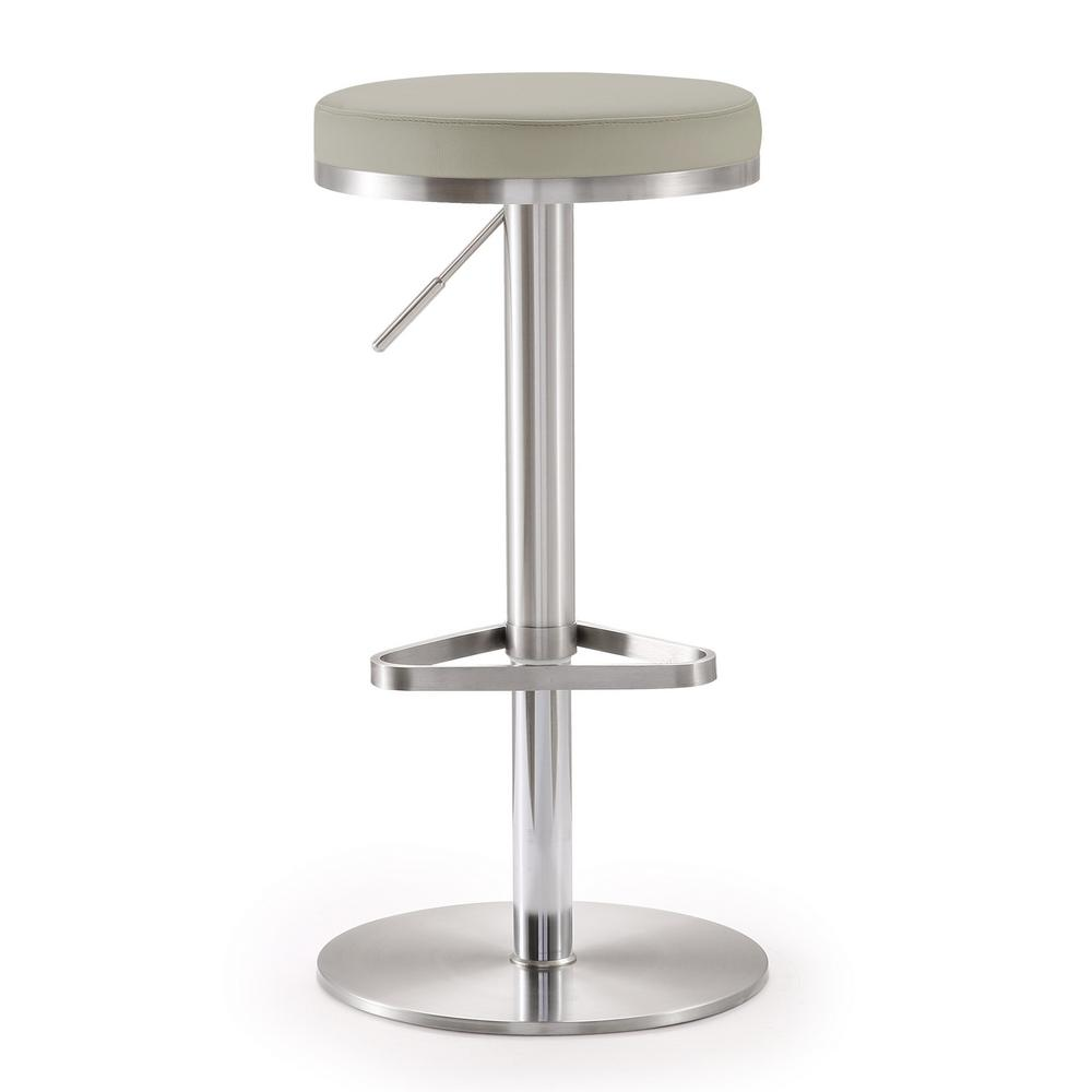 Tov Furniture Fano 32 In Light Grey Steel Adjustable