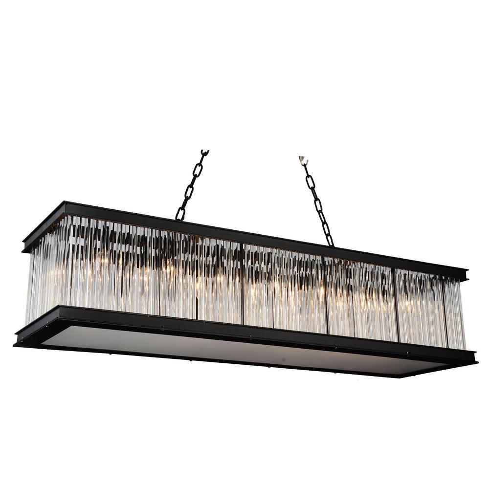 CWI Lighting Mira 14-Light Black Chandelier