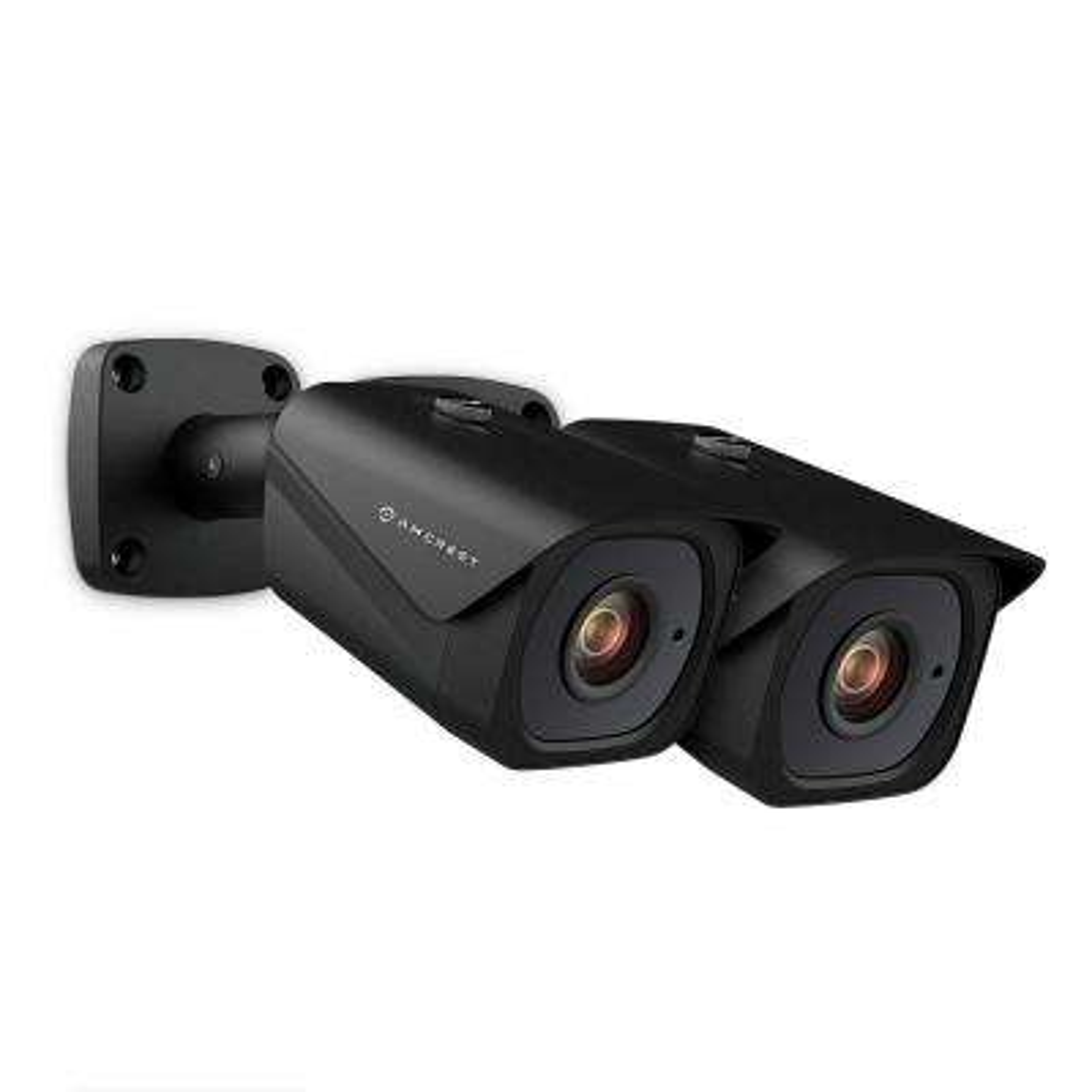 4K UltraHD 8MP Wired Outdoor Bullet POE IP Security Camera, 131ft Night Vision, MicroSD Rec, IP67 Weatherproof (2-Pack)
