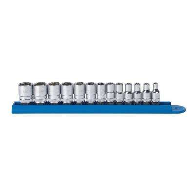(13-Piece) 1/4 in. Drive 6-Point Standard Metric Socket Set
