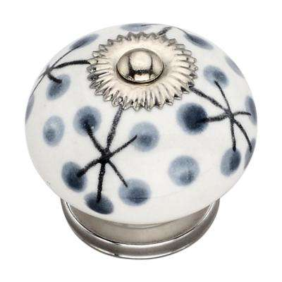 Dotted Tree 1.46 in. Grey Cabinet Knob