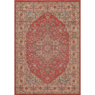Ghazni Red 7 ft. 10 in. x 9 ft. 10 in. Indoor Area Rug