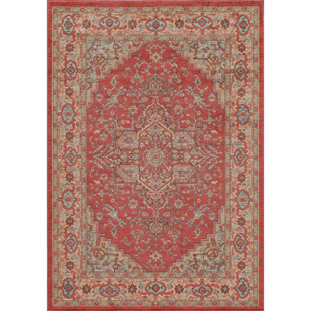 Ghazni Red 9 ft. x 13 ft. Indoor Area Rug