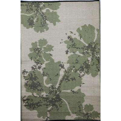 Boca Green/Beige 4 ft. x 6 ft. Outdoor Reversible Area Rug