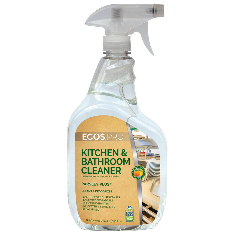 32 oz trigger spray parsley plus all purpose kitchen bathroom cleaner pl9746 6 the home depot