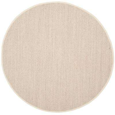 Natural Fiber Marble Beige 6 Ft X Round Area Rug
