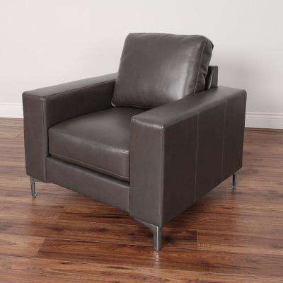 Cory Contemporary Brownish-Grey Bonded Leather Chair