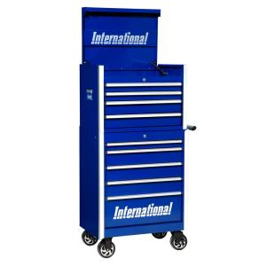 Click here to buy  Pro Series 27 inch 9-Drawer Tool Chest and Cabinet Combo Blue.