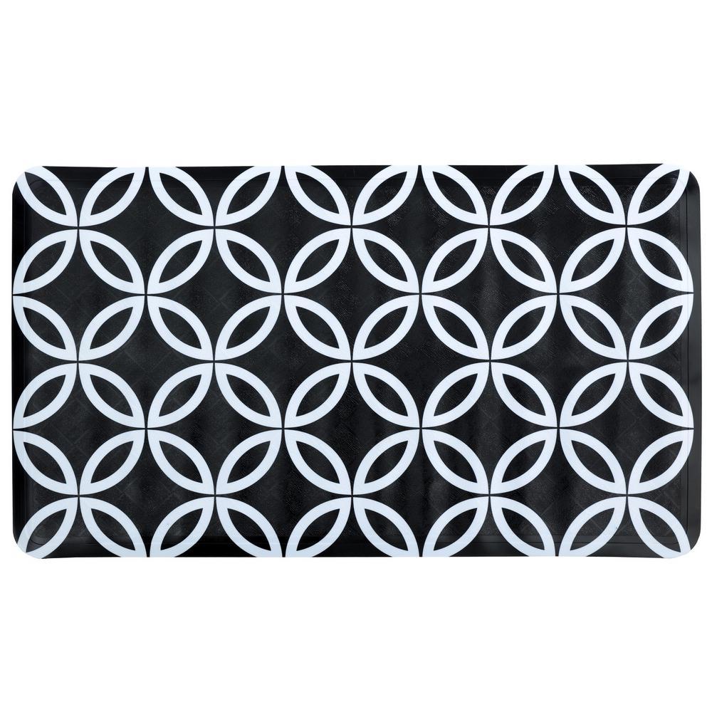 15 in. x 27 in. Geometric Circles Bath Mat