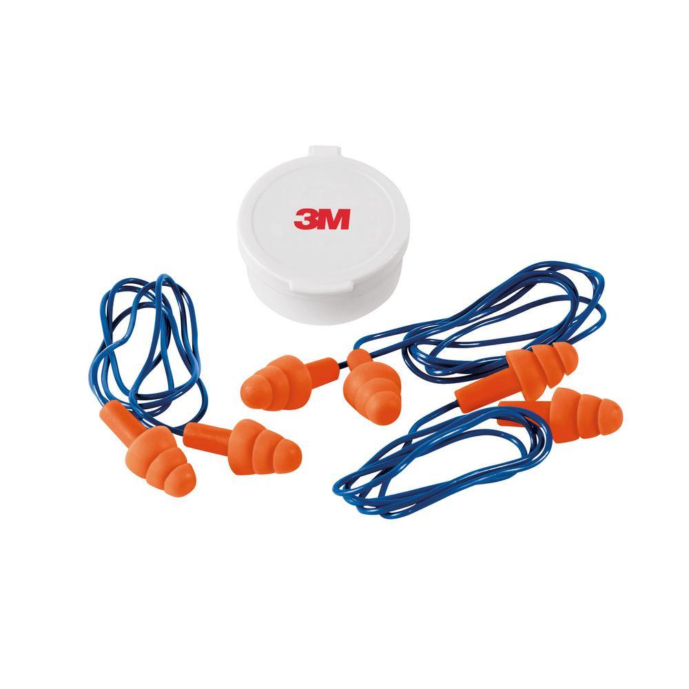 Reusable Corded Earplugs (3-Pack)