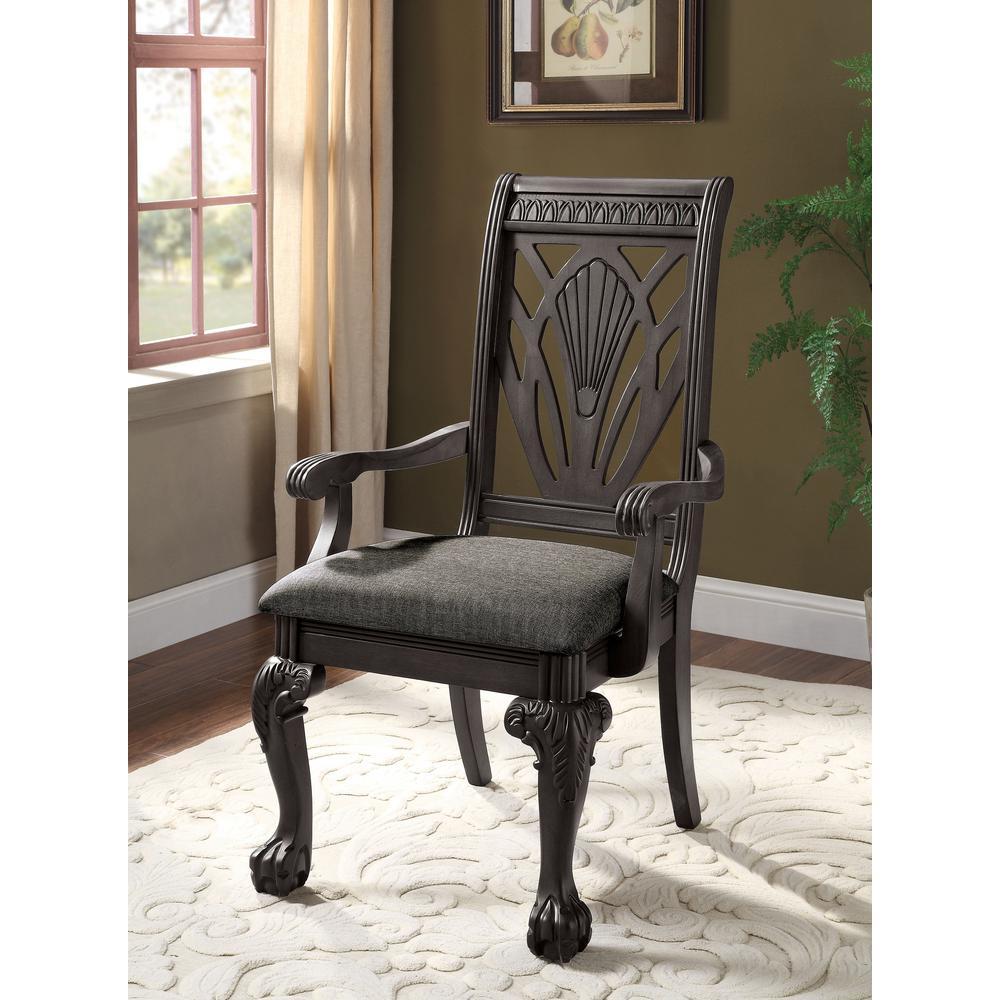 Muriel Dark Gray Upholstered Armchairs (Set of 2)