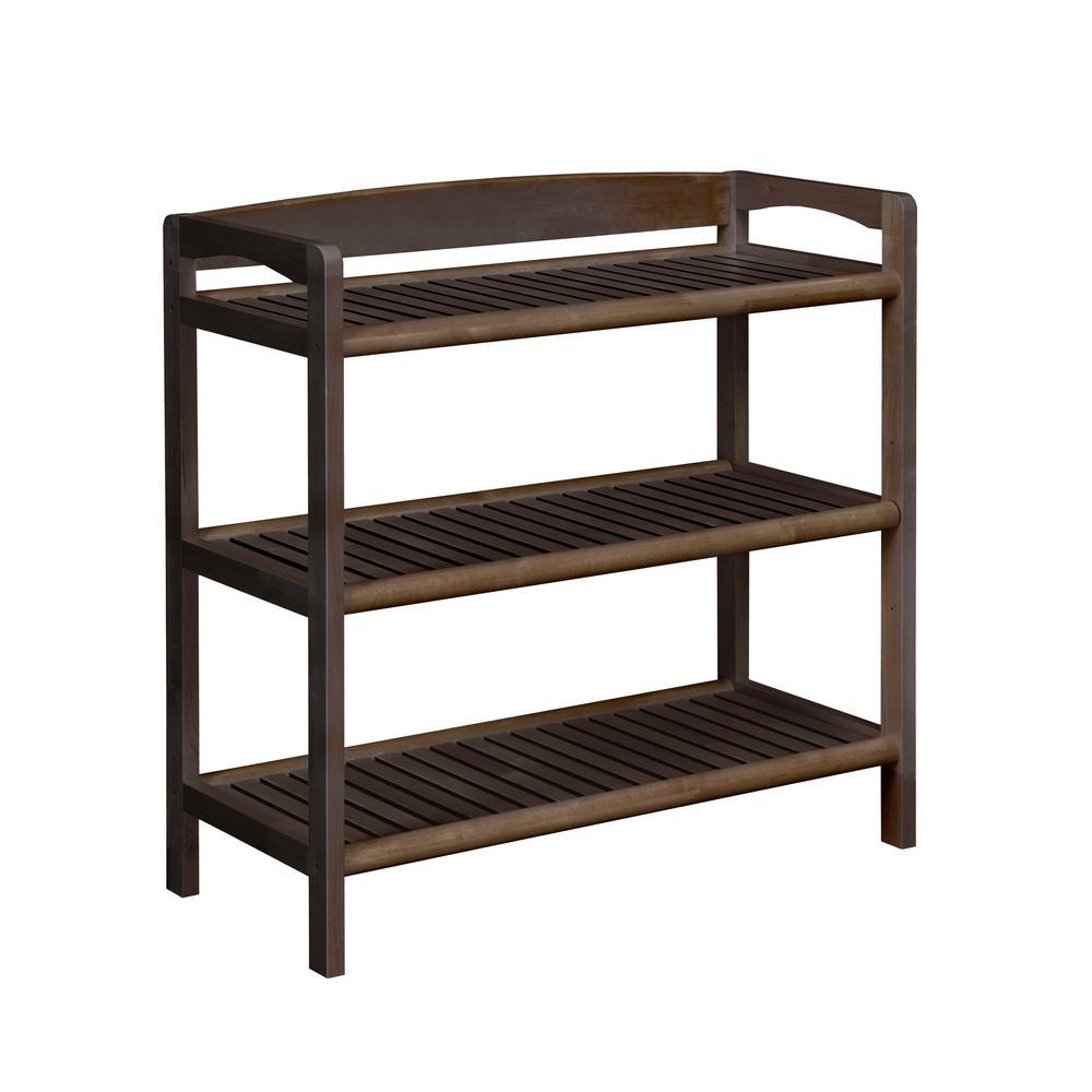 Abingdon Espresso Adjustable Bookcase
