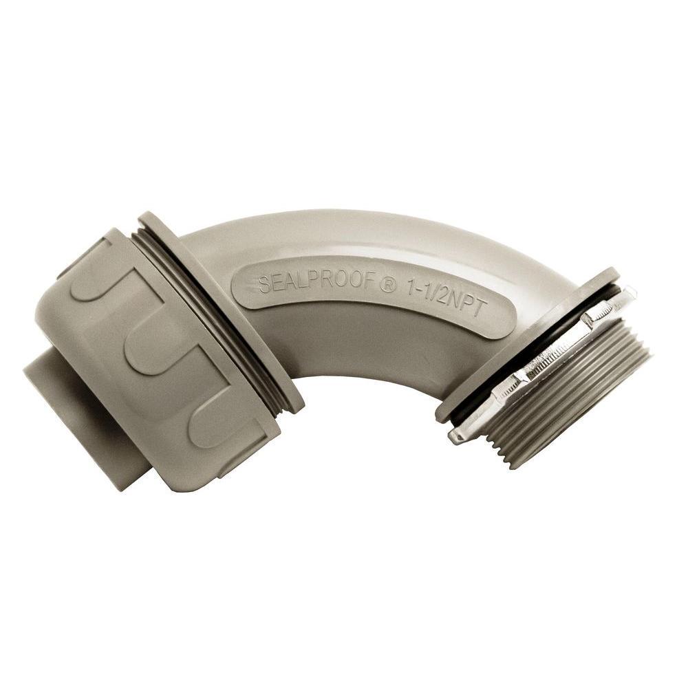 1-1/2 in. Liquidtite NM 90-Degree PVC Conduit Fitting Connector