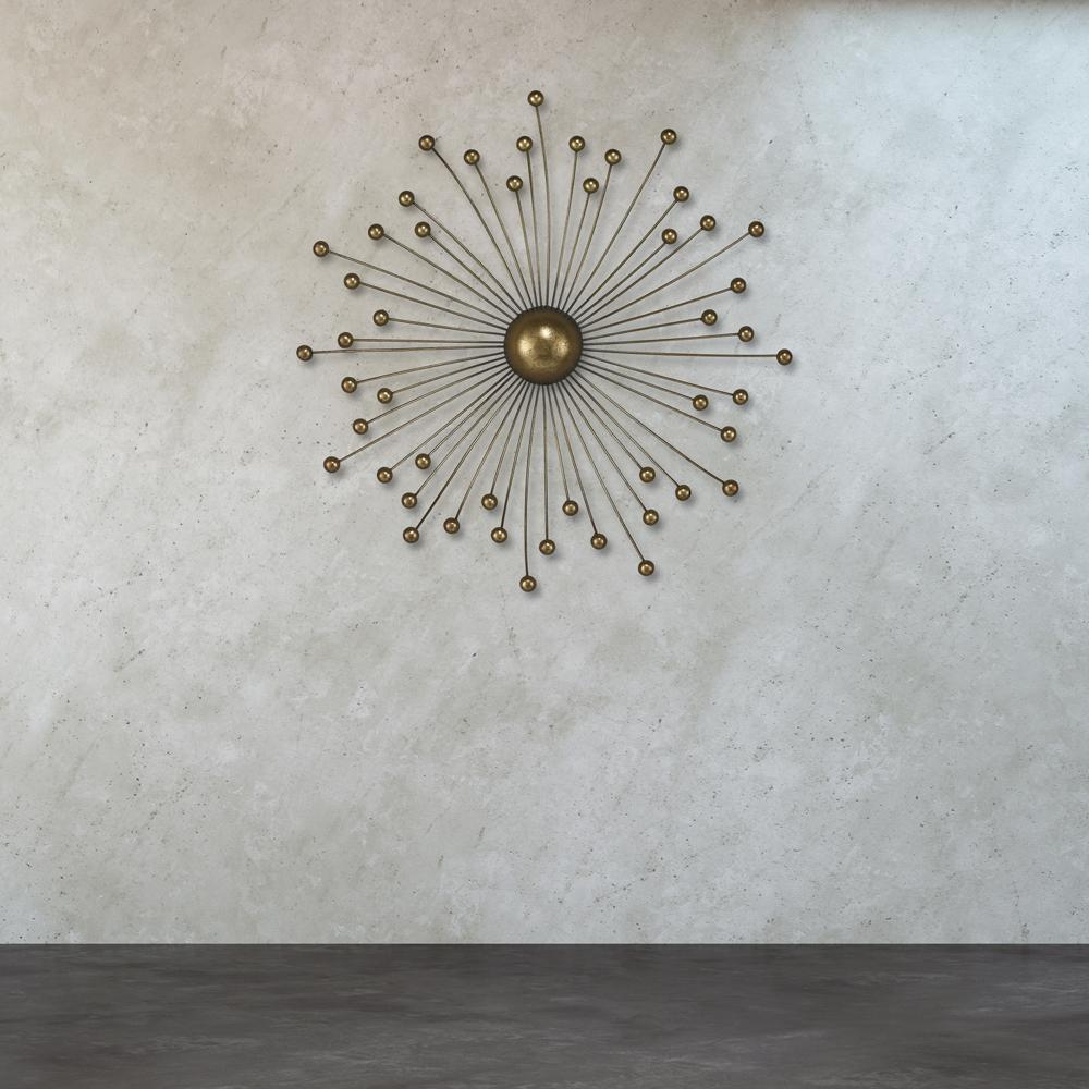 Titan Lighting Withington 24 in. x 24 in. Metal Abstract Starburst Wall Decor