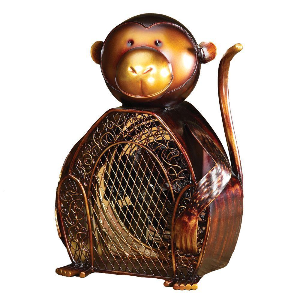 Deco Breeze 7 in. Figurine Fan-Monkey
