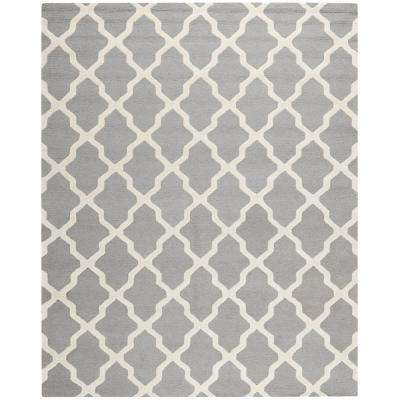 Cambridge Silver/Ivory 12 ft. x 18 ft. Area Rug