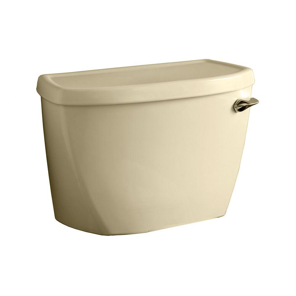 American Standard Yorkville Pressure-Assisted 1.6 GPF Single Flush Toilet Tank Only with Right-Hand Trip Lever in Bone