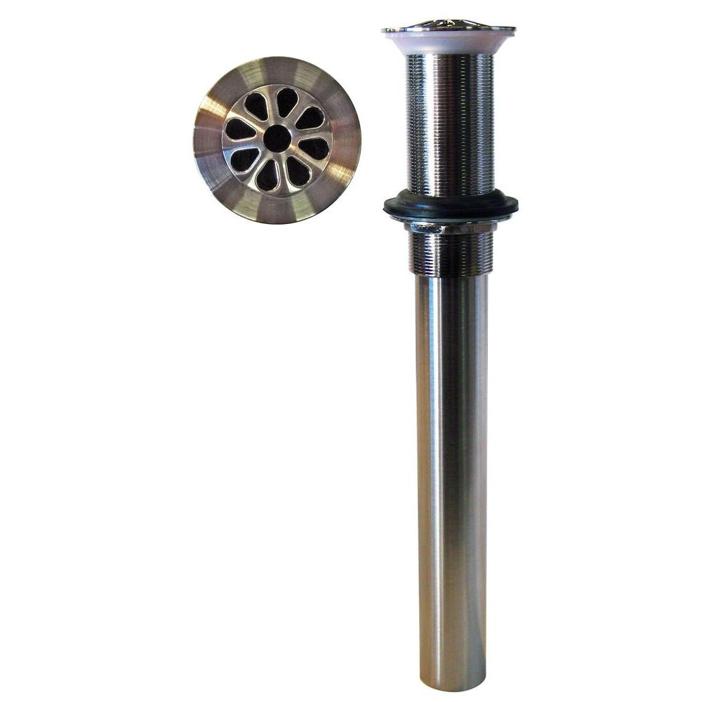 Westbrass Hi-Flow Grid Drain Assembly without Overflow Holes, Satin Nickel