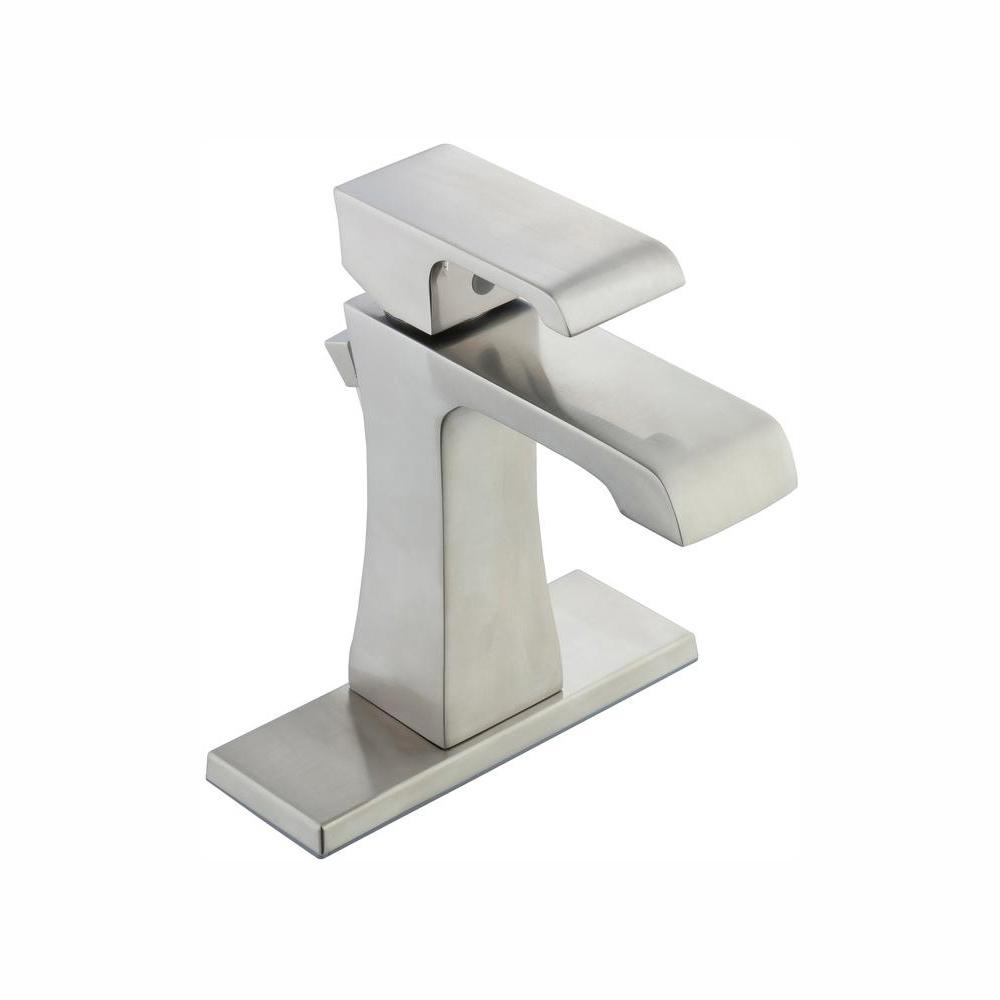 Glacier Bay Adelyn Single Hole Single-Handle High-Arc Bathroom Faucet in Brushed Nickel