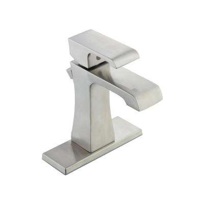 Adelyn Single Hole Single-Handle High-Arc Bathroom Faucet in Brushed Nickel