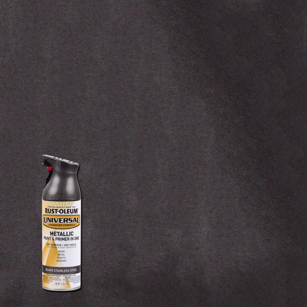 Rust oleum universal 12 oz all surface forged hammered chestnut spray paint and primer in 1 Black metal spray paint