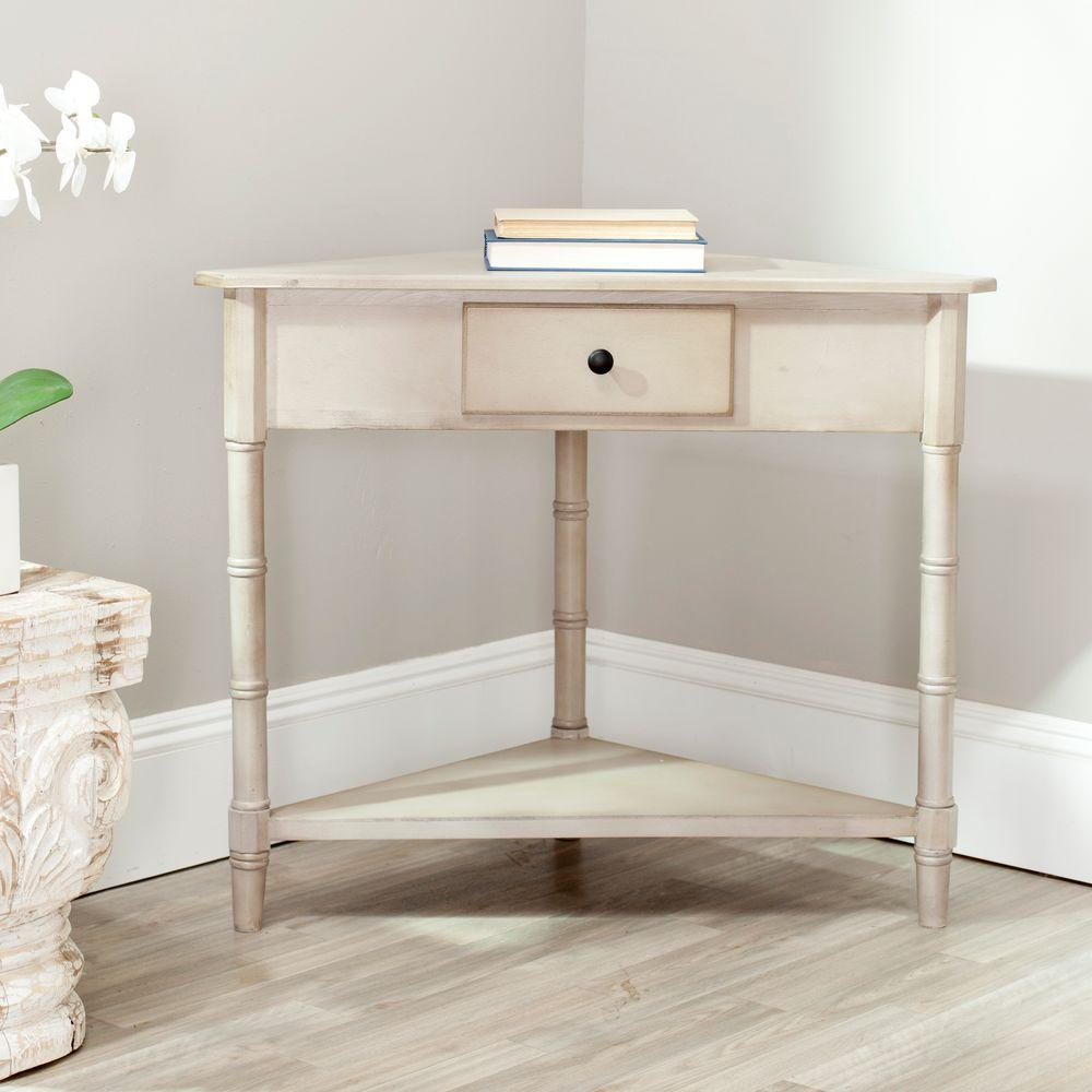 Gomez Vintage Gray Storage Console Table