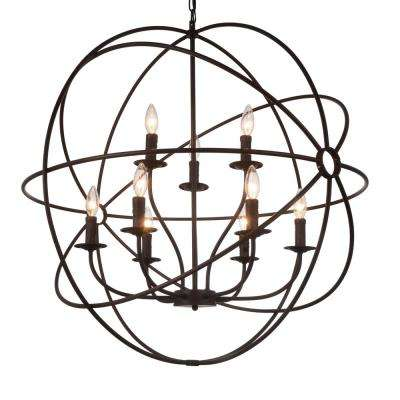 Brown chandeliers lighting the home depot arza 9 light brown chandelier aloadofball Gallery