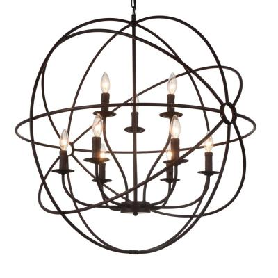 Arza 9-Light Brown Chandelier