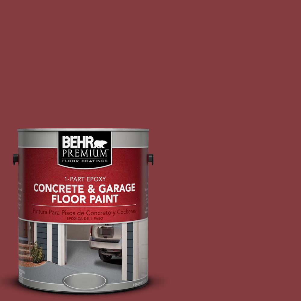 1 gal. #M140-7 Dark Crimson 1-Part Epoxy Concrete and Garage Floor Paint