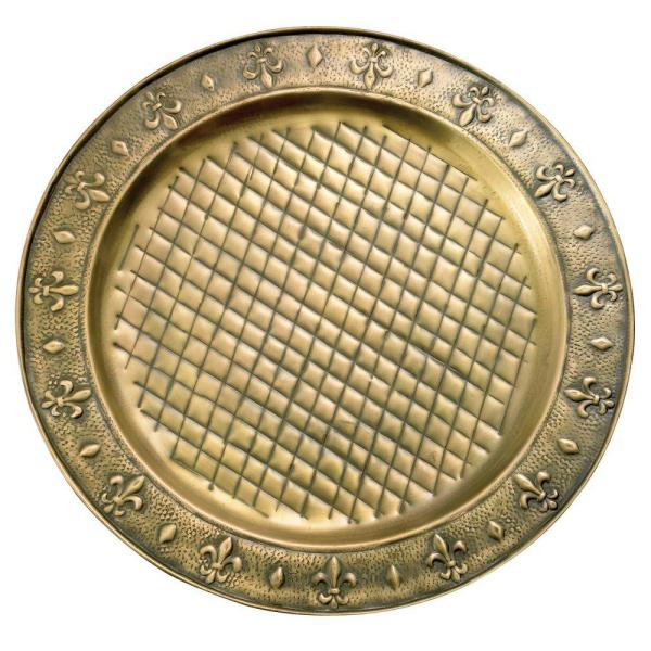 13 in. Antique Brass Charger Plates (Set of 6)
