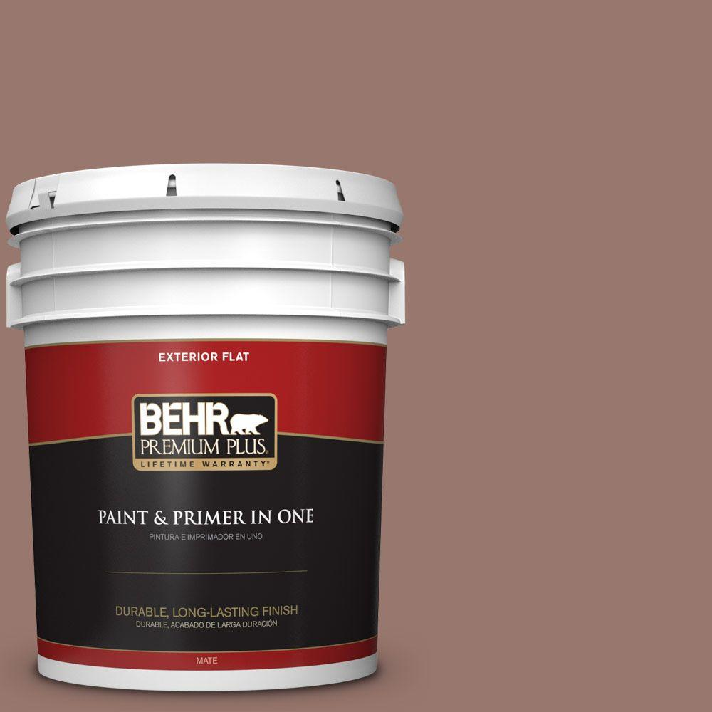 5-gal. #N160-5 Chocolate Delight Flat Exterior Paint