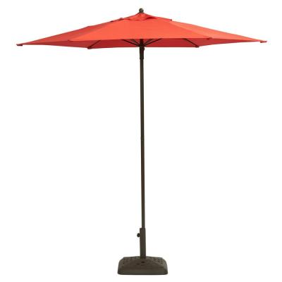 7-1/2 ft. Steel Patio Umbrella in Ruby