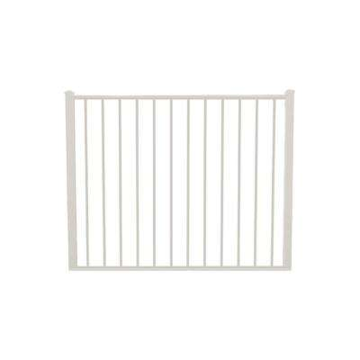 Newtown 5 ft. W x 4 ft. H White Aluminum Fence Gate