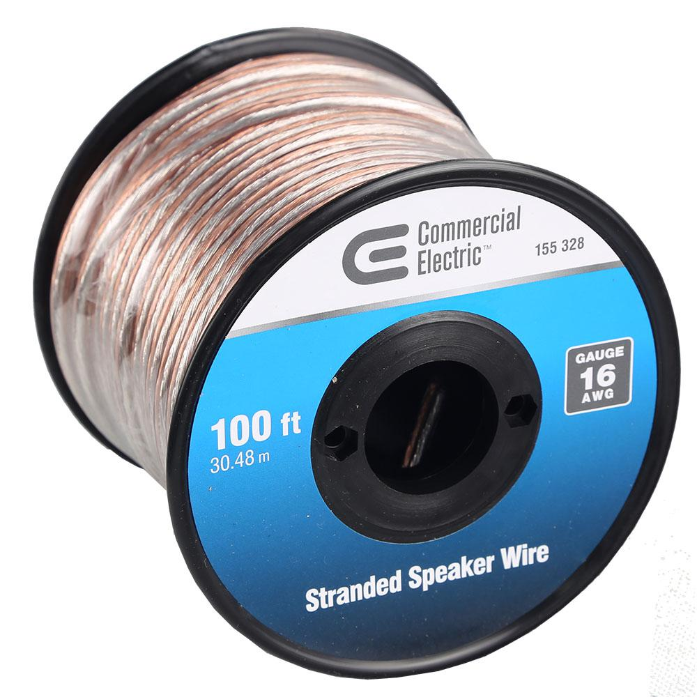 commercial electric 100 ft 16 gauge stranded speaker wire y280565 rh homedepot com