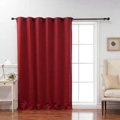 Wide Basic Blackout Curtain in Cardinal Red - 80 in. W x 108 in. L