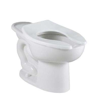 Madera FloWise Back Spud EverClean Slotted Rim Elongated Flush Valve Toilet Bowl Only in White