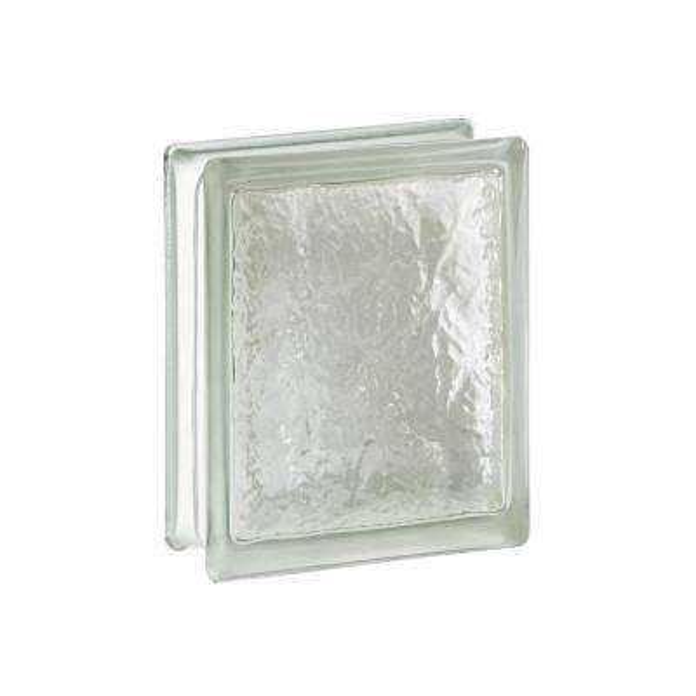 Cortina 5.75 in. x 7.75 in. x 3.875 in. Ice Pattern Glass Block (8-Pack)