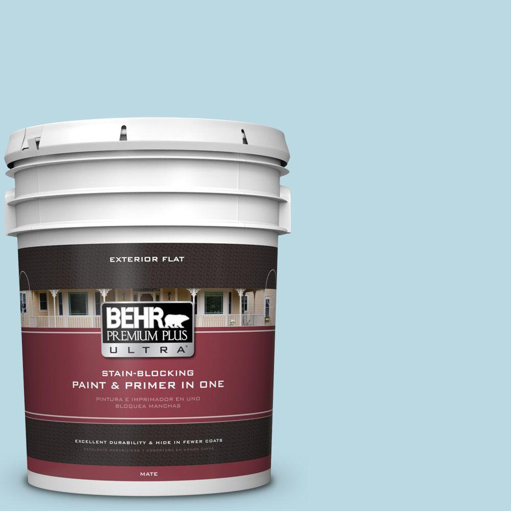 BEHR Premium Plus Ultra 5-gal. #S460-1 Air Blue Flat Exterior Paint
