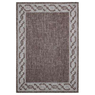 Augusta Whitehaven Brown 7 ft. 10 in. x 10 ft. 6 in. Indoor/Outdoor Area Rug