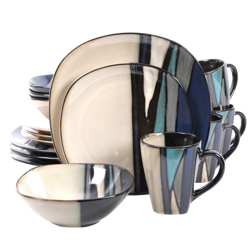 Althea 16-Piece Teal Dinnerware Set  sc 1 st  The Home Depot : emeril dinnerware collection - pezcame.com
