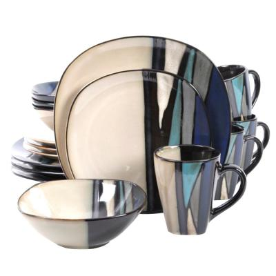 Althea 16-Piece Teal Dinnerware Set