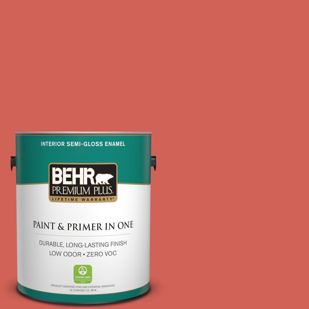 BEHR Premium Plus Home Decorators Collection 1-gal. #HDC-MD-05 Desert Coral Zero VOC Semi-Gloss Enamel Interior Paint